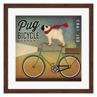 "Metaverse Art ""Pug Bicycle Company"" Framed Wall Art"