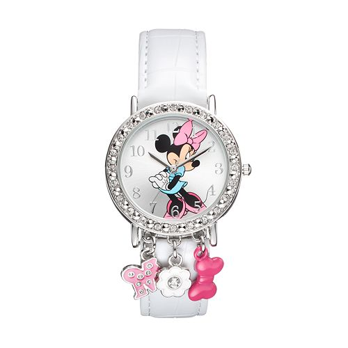 Disney's Minnie Mouse Women's Crystal Charm Watch
