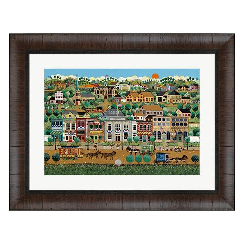 Metaverse Art My Home Town Framed Wall Art