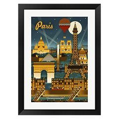 Metaverse Art Paris Evening And Balloon Framed Wall Art