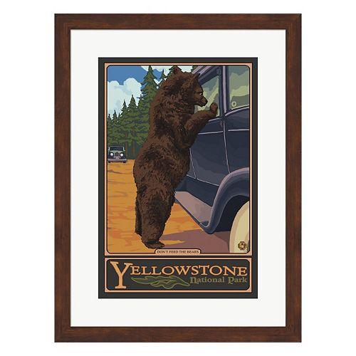 """Metaverse Art """"Bears"""" Yellowstone Framed Wall Art"""