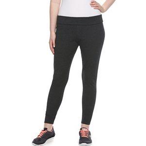 Juniors' Plus Size SO® Fold-Over Yoga Leggings