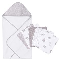 Trend Lab 6-pc. Gray Hooded Towel & Wash Cloth Set