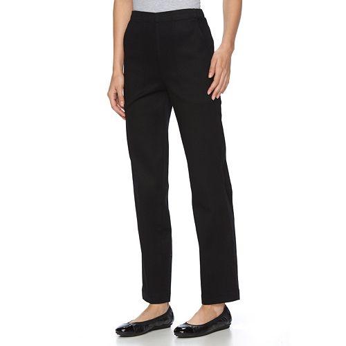 Petite Croft & Barrow® Sateen Tapered Pull-On Pants
