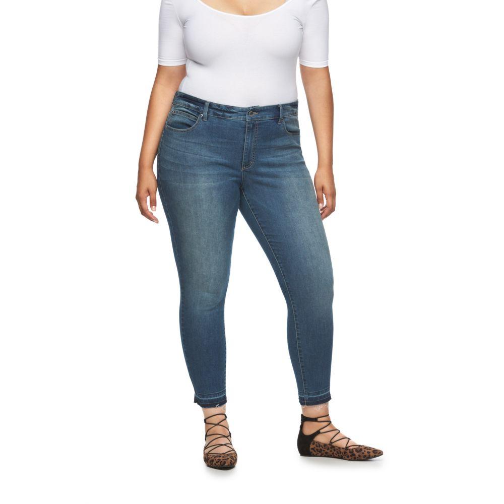 Size Jennifer Lopez Frayed Skinny Ankle Jeans