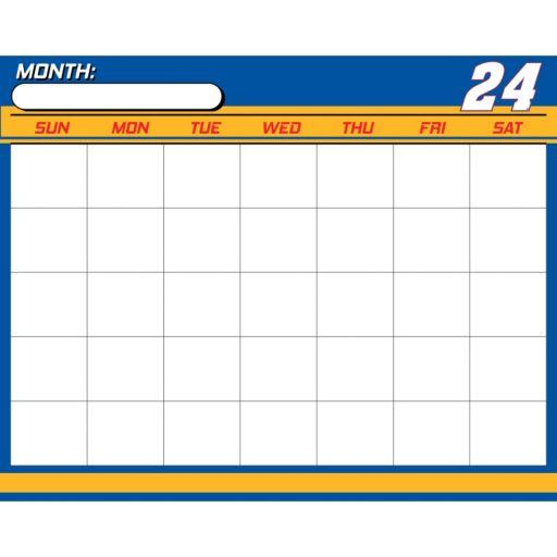 Chase Elliot Dry-Erase Calendar