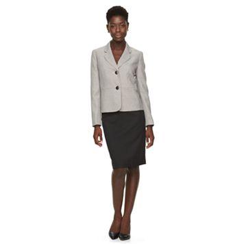 Women's Le Suit Tweed Suit Jacket & Solid Skirt Set