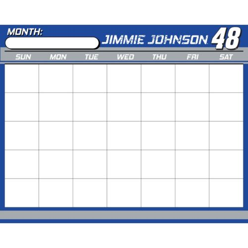 Jimmie Johnson Dry-Erase Calendar