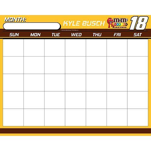 Kyle Busch Dry-Erase Calendar