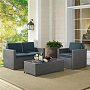 Palm Harbor Faux Wicker Loveseat Seating 3 pc Set