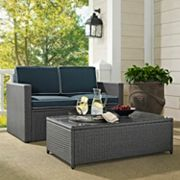 Palm Harbor Outdoor Wicker Seating 2 pc Set