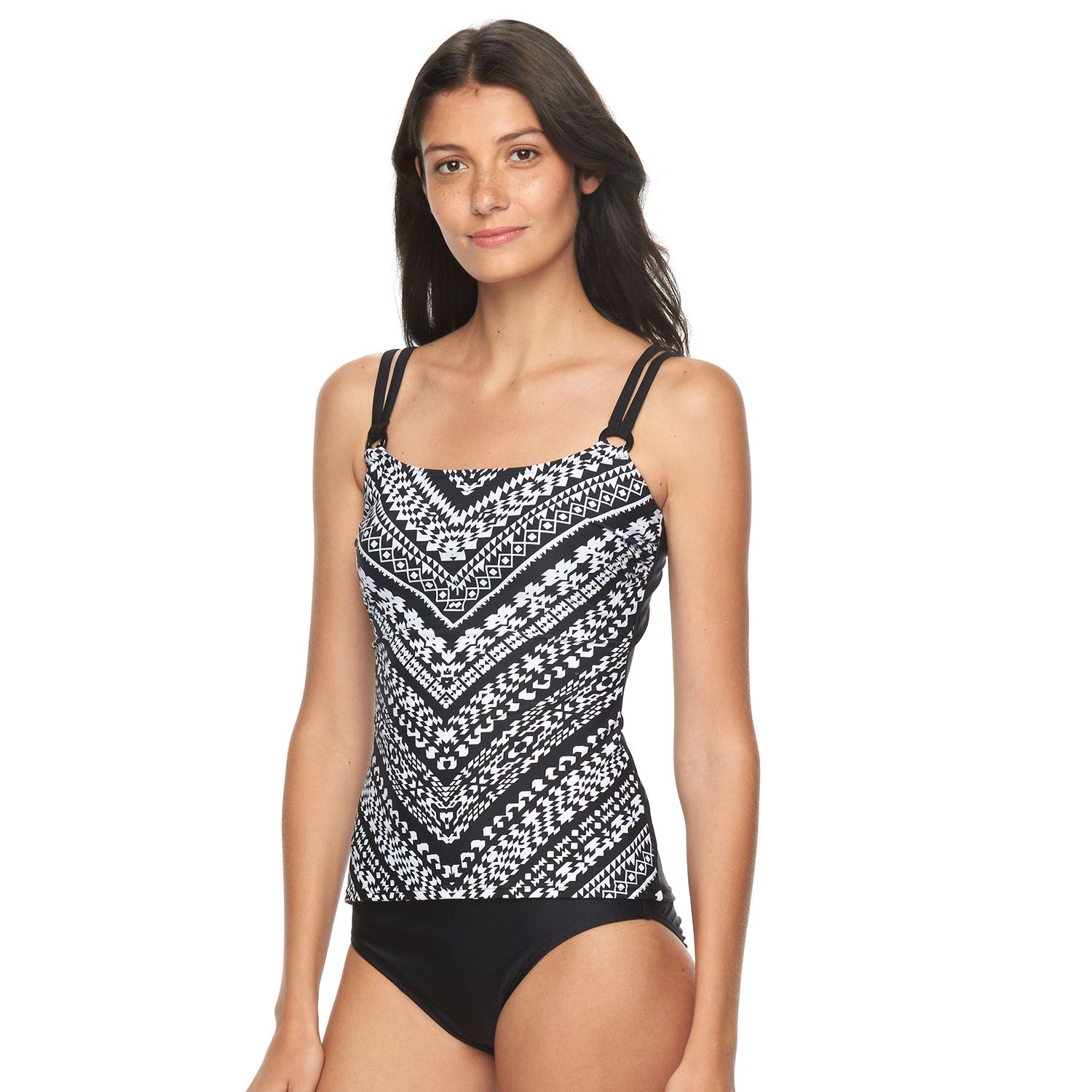 Womens Croft & Barrow? Tummer Slimmer D-Cup Southwest Tankini Top
