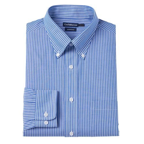 Big & Tall Croft & Barrow Slim-Fit Button-Down Dress Shirt