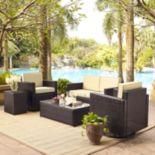 Palm Harbor Outdoor Wicker Conversation 5-piece Set