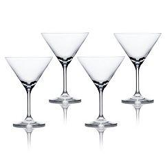 Mikasa Laura 4 pc Martini Glass Set