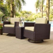 Palm Harbor Wicker Outdoor Conversation 3-piece Set