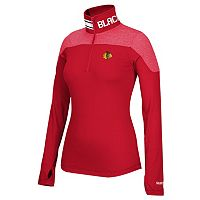 Women's Reebok Chicago Blackhawks Performance Quarter-Zip Top