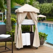 Palm Harbor Faux Wicker Towel Valet