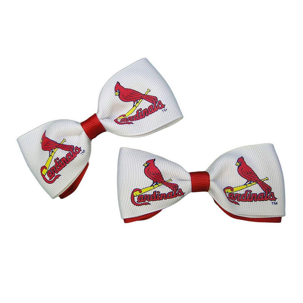 Women's St. Louis Cardinals 2-Piece Bow Hair Clip Set