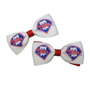 Women's Philadelphia Phillies 2-Piece Bow Hair Clip Set