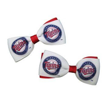 Women's Minnesota Twins 2-Piece Bow Hair Clip Set