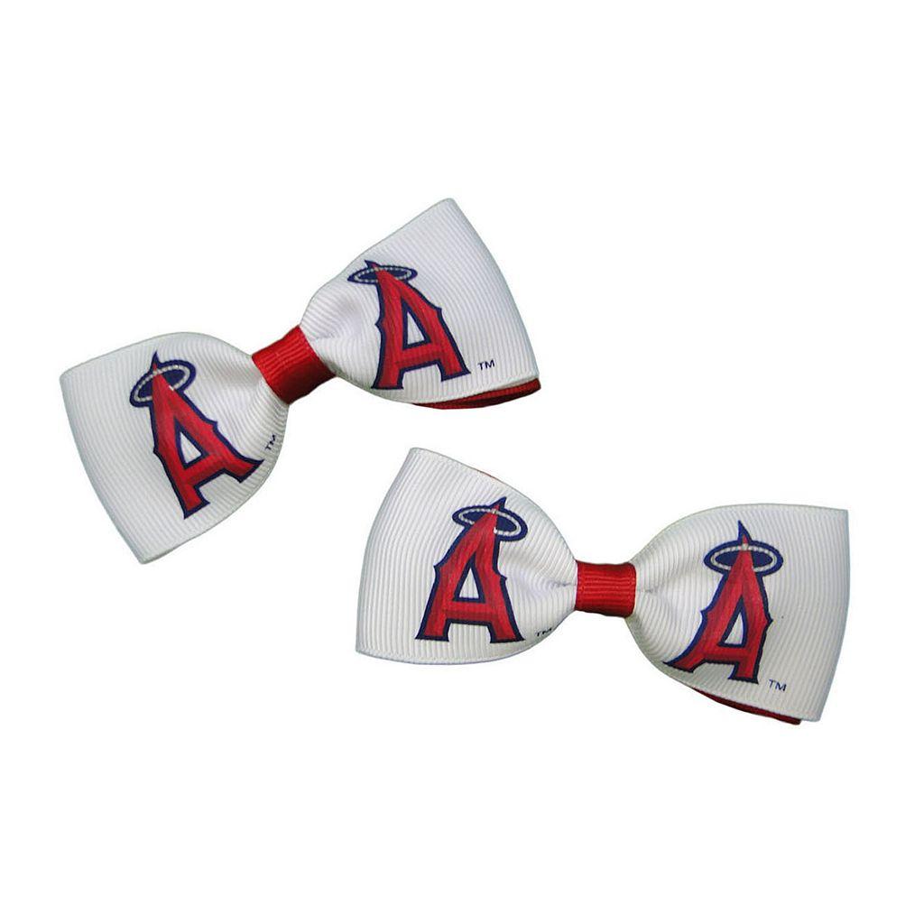 Women's Los Angeles Angels of Anaheim 2-Piece Bow Hair Clip Set