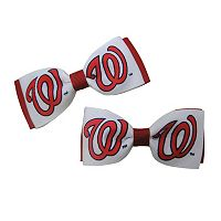 Women's Washington Nationals 2-Piece Bow Hair Clip Set