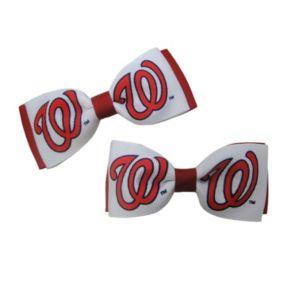 Women's Washington Nationals 2-Piece Bow Hair Clip Set
