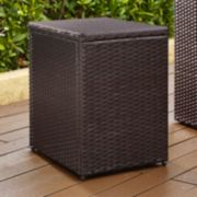 Palm Harbor Faux Wicker End Table