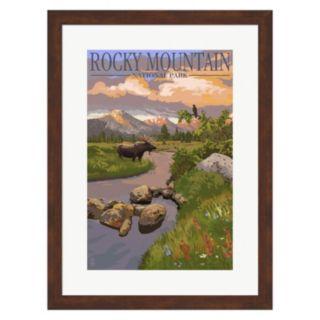 """Metaverse Art """"Rocky Mountain National Park"""" Framed Wall Art"""