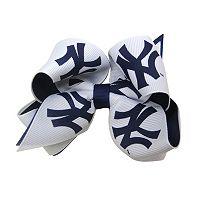 Juniors' New York Yankees Two-Tone Bow Hair Clip