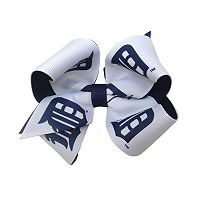Juniors' Detroit Tigers Two-Tone Bow Hair Clip