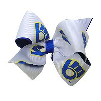 Juniors' Milwaukee Brewers Two-Tone Bow Hair Clip
