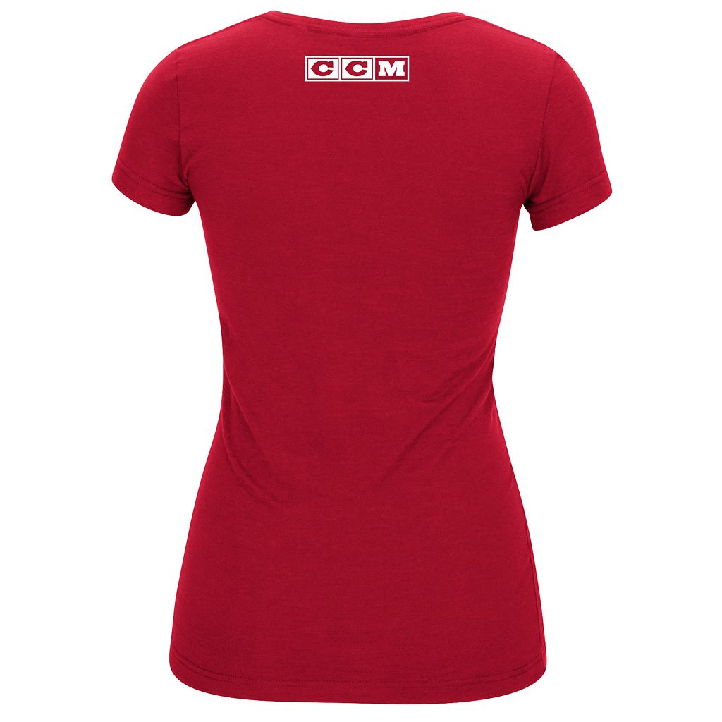 Women's Reebok Detroit Red Wings Layers Tee