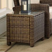 Bradenton Faux Wicker End Table
