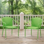 Palm Harbor Outdoor Wicker Stackable Chair 2-piece Set