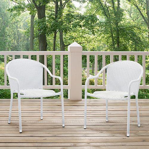 Palm Harbor Outdoor Wicker Stackable Chair 2 Piece Set