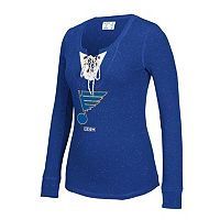 Women's CCM St. Louis Blues Lace-Up Henley Tee