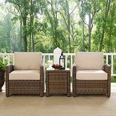 Bradenton Outdoor Wicker Conversation 3-piece Set