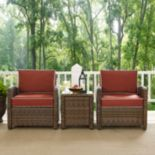 Bradenton Outdoor Wicker Conversation 3 pc Set