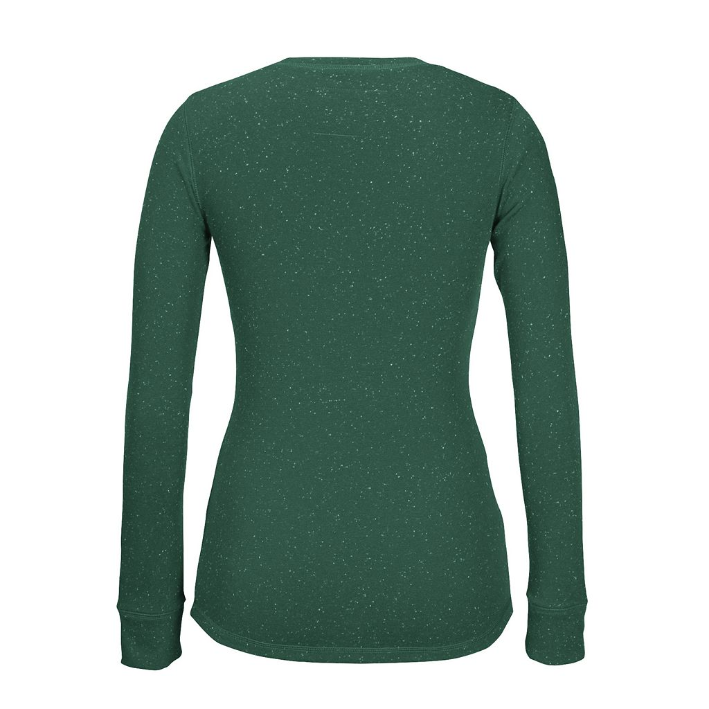 Women's CCM Minnesota Wild Lace-Up Henley Tee