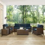 Bradenton Outdoor Wicker Sofa Conversation 5-piece Set