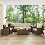 Bradenton Outdoor Wicker Sofa Conversation 5-piece Set