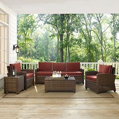 Bradenton Outdoor Wicker Sofa Conversation 5 pc Set