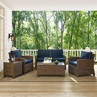 Bradenton Wicker Outdoor Conversation 5 pc Set