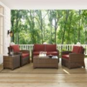 Bradenton Wicker Outdoor Conversation 5-piece Set