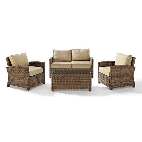 Bradenton Faux Wicker Seating 4-piece Set