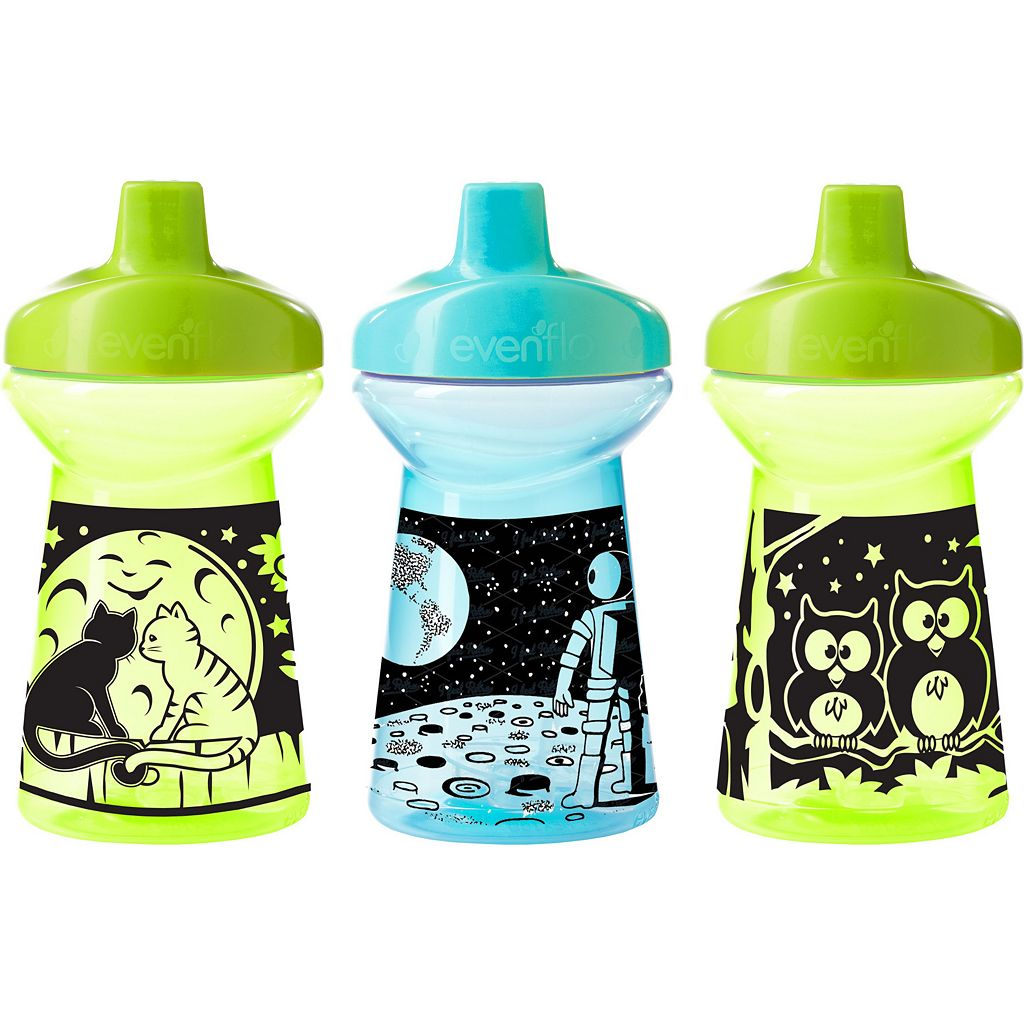 Evenflo Feeding TripleFlo 3-pk. 10-Ounce Glow-In-The-Dark Tumblers