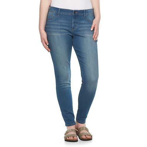 Juniors' Plus Size SO® Faded Knit Jeggings