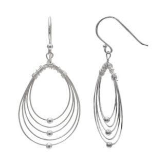 PRIMROSE Sterling Silver Wire Oval Hoop Earrings